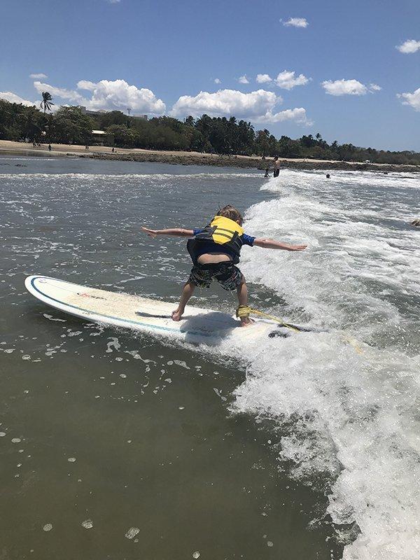 Tamarindocosta rica kids surf