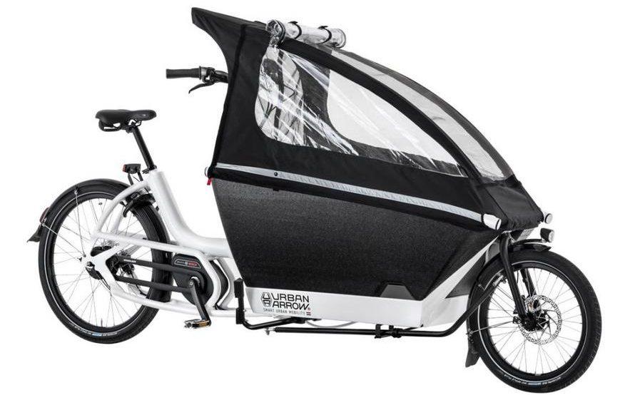 Urban Arrow cargo bike with canopy