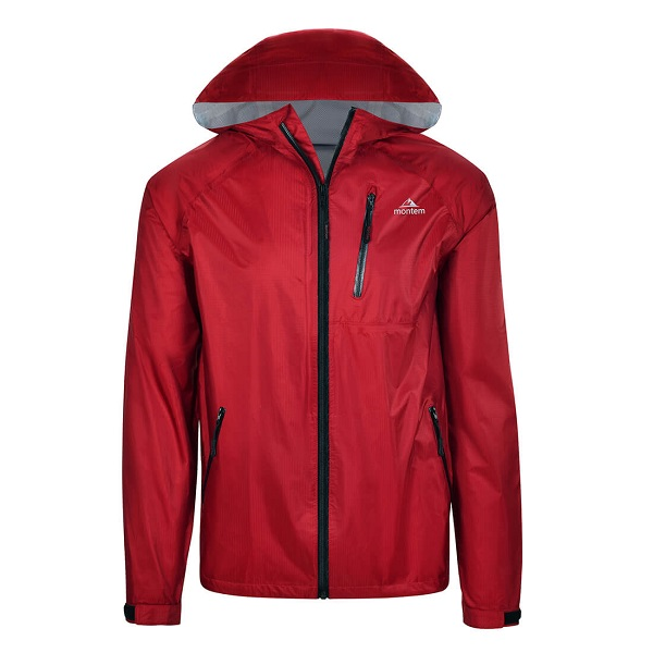 Affordable Mens Rain Jacket in Red