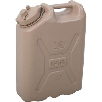 Brown Water Container for Camping and Rafting