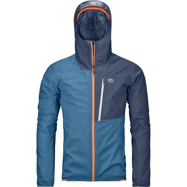 Ortovox Mens Rain Jacket in Blue