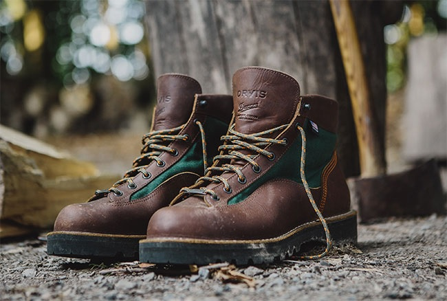 Danner Fishing Boots Leather Orvis Collab