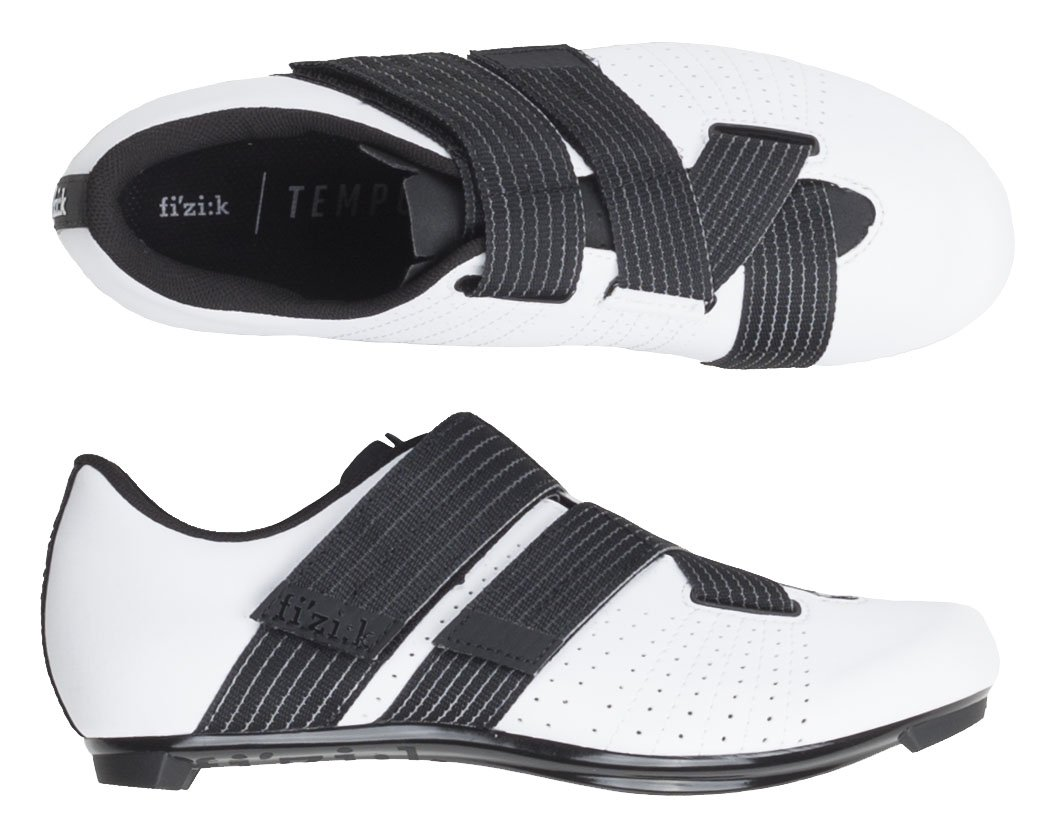 fi'z:ik tempo r5 powerstrap road cycling shoe in white