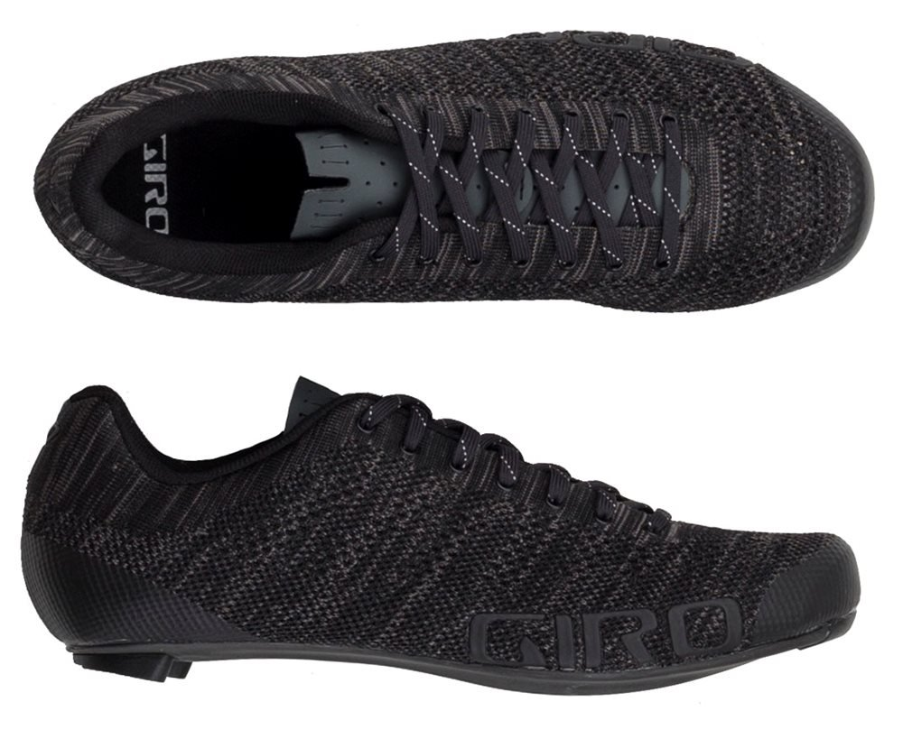 giro empire e70 knit road cycling shoe in black