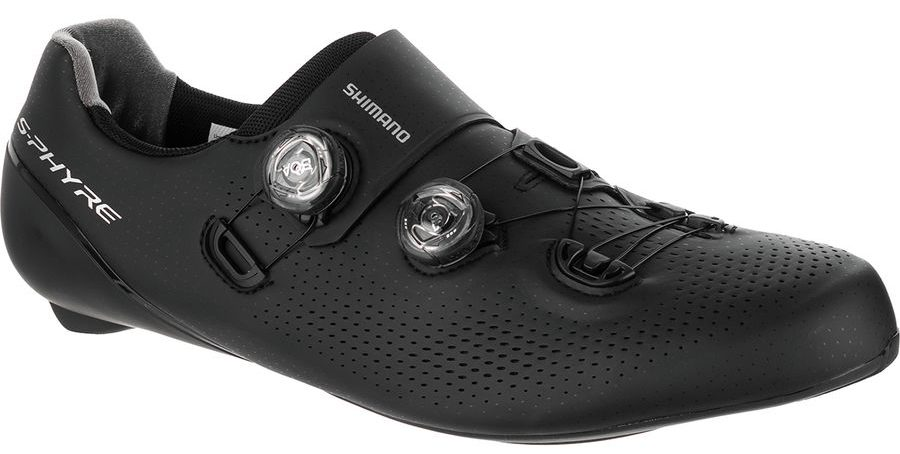 shimano sh-rc9 s-phyre road cycling shoe in black