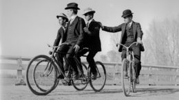 Riding bicycles without helmets