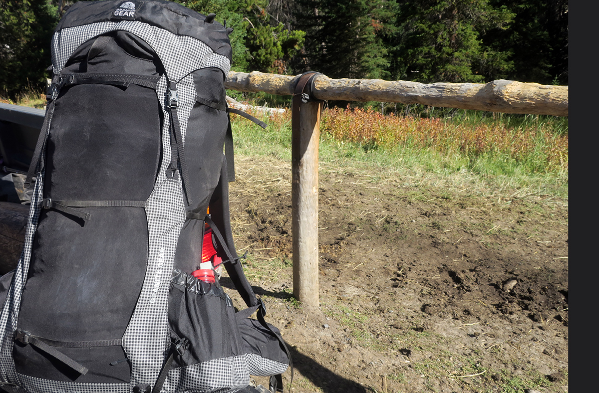 Backpack with Bear Spray