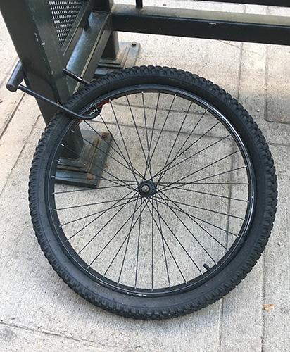 Bike Thief Left Tire Behind