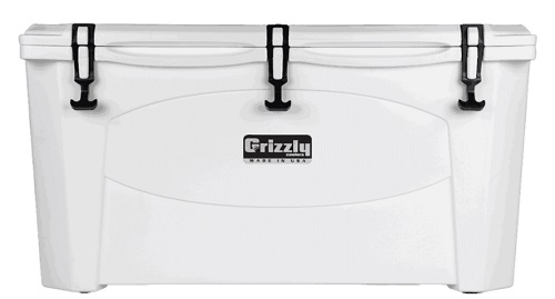 White 100 QT Grizzly Proof Cooler