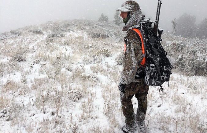 Elk Hunting in Snow