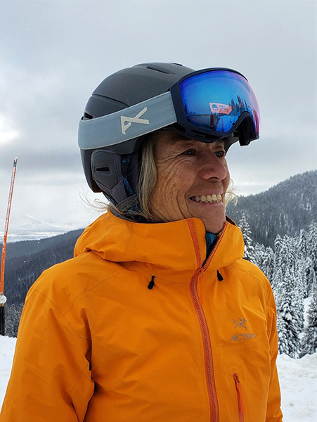 Women Skiing Teton Pass