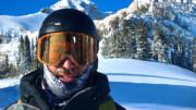 Snowboarder in Grand Teton National Park