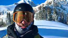Snowboarder in Grand Teton National Park