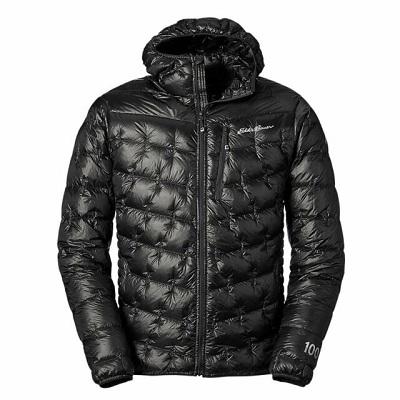 Mens Black Shinny Down Jacket - Eddie Bauer