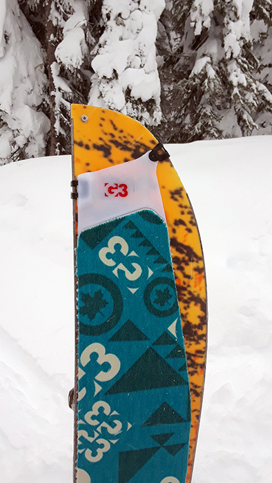 Splitboard with skins