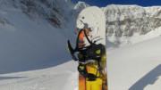 Head NX Six Snowbaord Binding in the Backcountry