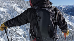 Backcountry Skier with Backpack