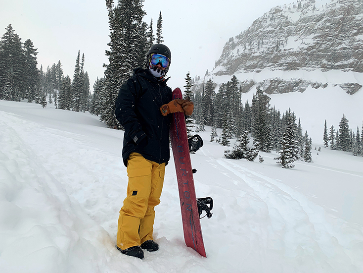Rock Springs Jackson Hole Backcountry Snowboarder Scott Sheer