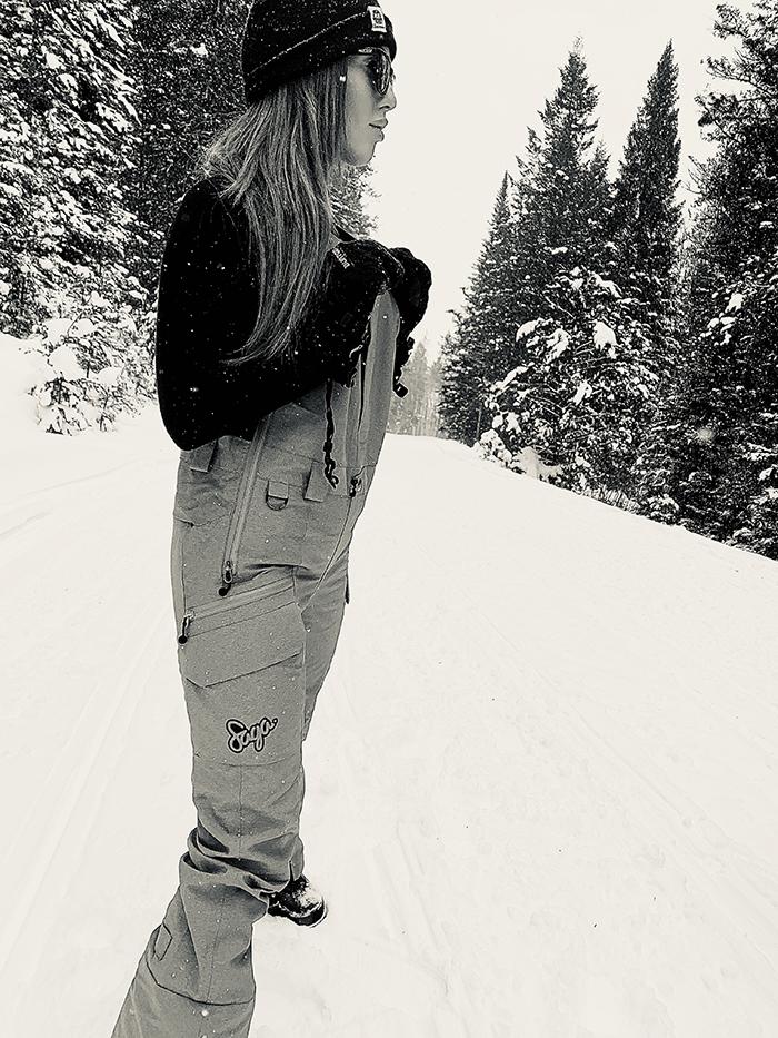 Women in Ski Bibs