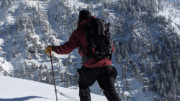 Skier in Burton AK Bibs