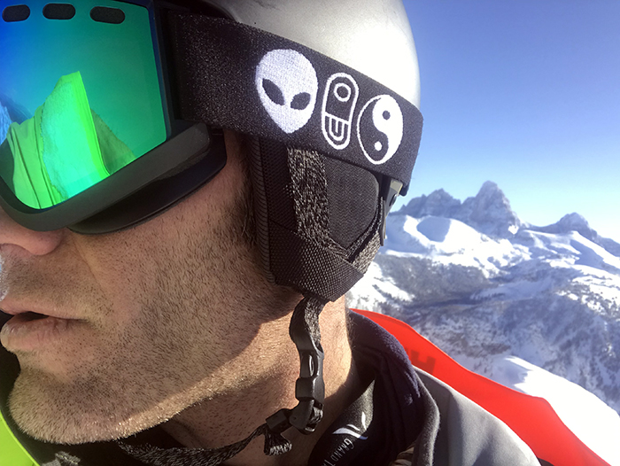 Grand Tetons Snowboarder