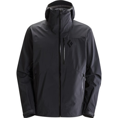 Men's Black Snowboard Jacket Black Diamond