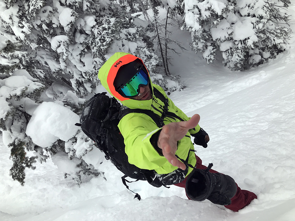 Snowboarder Waiting for Camera