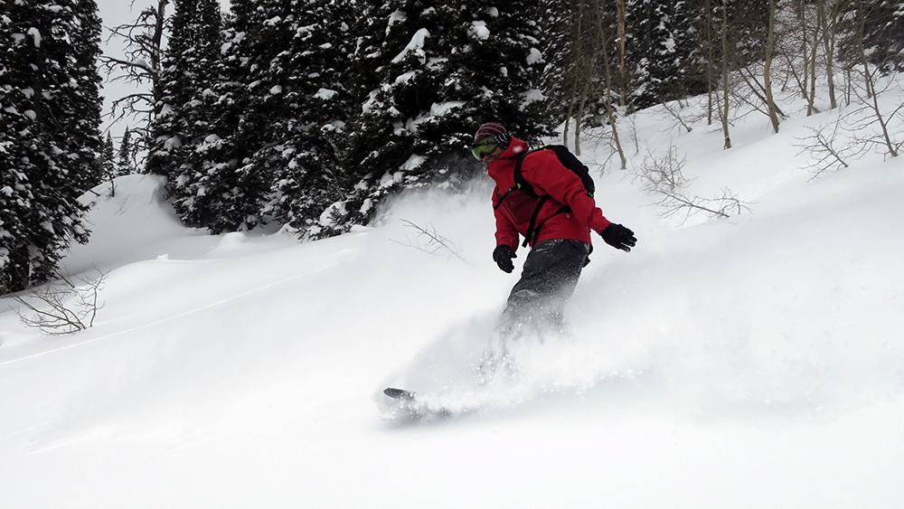 Snowboarder in Powder Burton