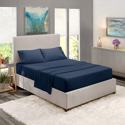Comfortable Sheets for Bedroom in Blue