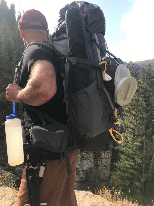 Backpacker in Tetons