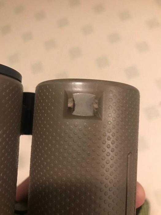 Broken binoculars