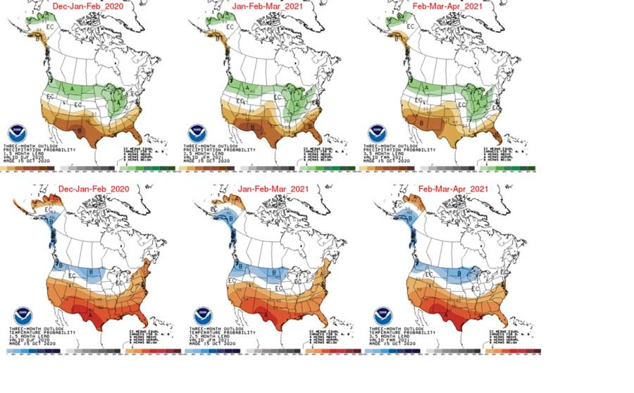 La Nina Weather Map 2020