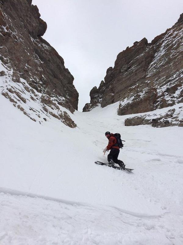 Snowboarding Tetons