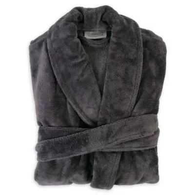Men's Plush Bamboo Robe Charcoal Cariloha Robe