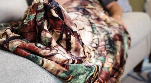 Camo Throw Blanket Outdoor Gift
