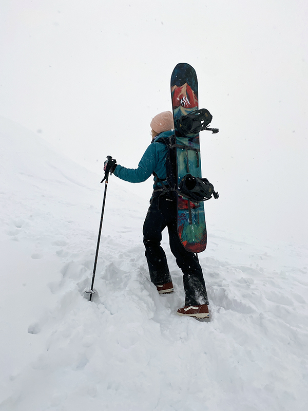 Women Hiking in Snowboard Boots