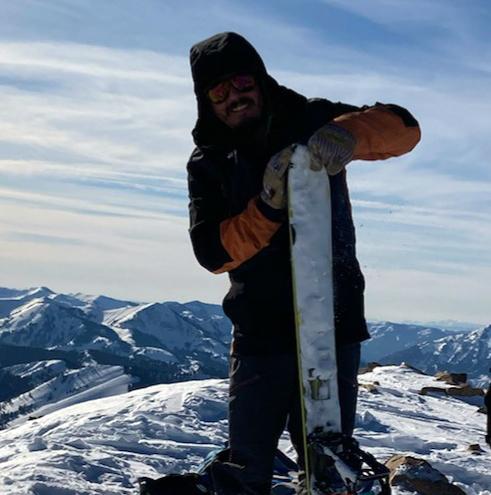 Splitboarder Top Mountain