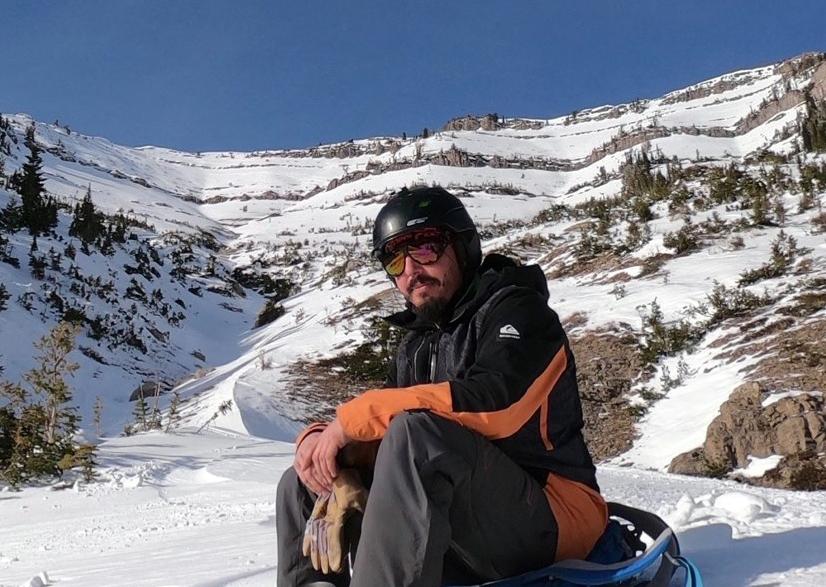 Snowboarder Little Tucks Teton Pass - Marlon