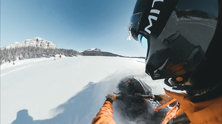 GoPro Max Stabilization on a Snowmobile Ride