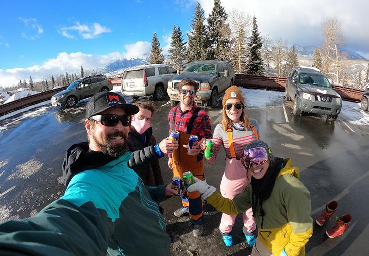 GoPro Friends Skiing