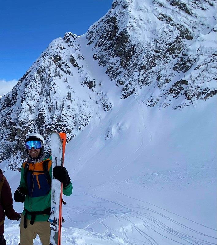 Backcountry Skiing Blue Skies