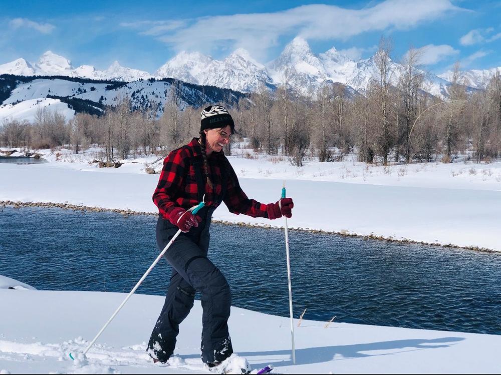 Women Snowshoeing Grand Teton National Park