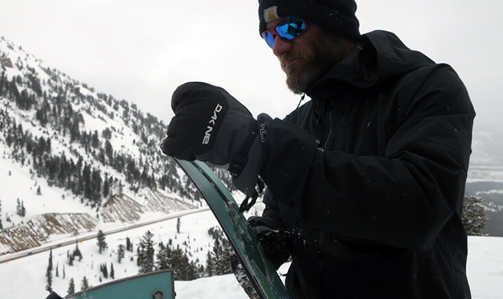 Burton Splitboarder on Teton Pass, Jackson Wyoming