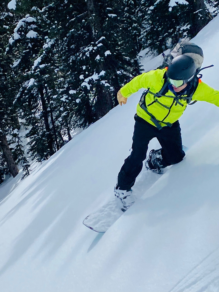 Snowboarding Backcountry Powder Yellow Bright Jacket