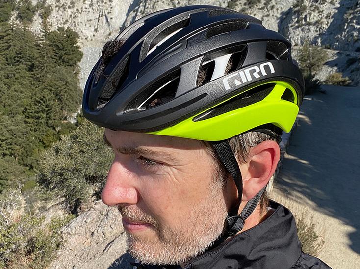 Bike Rider wearing Giro Helios Helmet