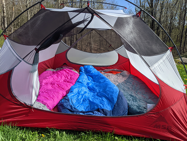 3 Person Tent with Sleeping Bags