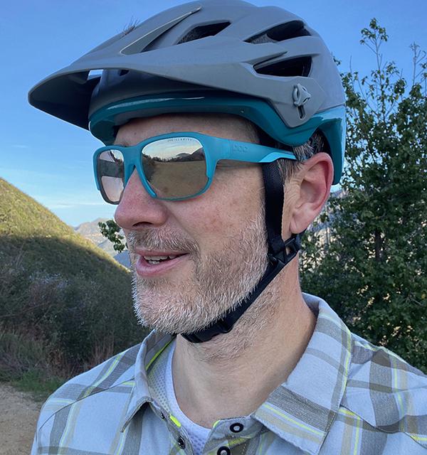 Bike Rider in Los Angeles Hills